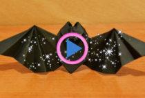 pipistrello origami halloween